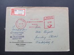 BRD 1955 Roter Freistempel Der Leiter Des Notaufnahmeverfahrens In Uelzen. Einschreiben 20a Uelzen C 482 - BRD