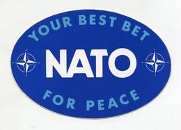 AUTOCOLLANT STICKER AUFKLEBER NATO YOU BEST BET FOR PEACE - Stickers