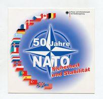 AUTOCOLLANT STICKER AUFKLEBER 50 JAHRE NATO SICHERHEIT UND STABILITAT - Stickers