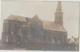 CPA BELGIQUE HOUTHEM Guerre 1914 1918 Ruines De L'Eglise Texte Au Dos - Veurne