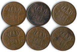 Lot De 6 Pièces De Monnaie 20 Centimes 1954 Et 1960 NDL - 01. 20 Centimes