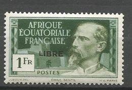 AEF FRANCE LIBRE  YVERT N° 116 / MAURY 118 VARIETEE PETIT L NEUF**  SANS CHARNIERE /  MNH - Neufs