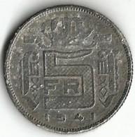 1 Pièce De Monnaie 5 Francs 1941  NDL - 01. 20 Centimes