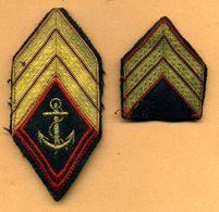 Ecussons Infanterie Colo -  Galons De Manche De Sergent-chef  -  TDM - Scudetti In Tela