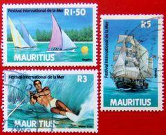 MAURITIUS 1987 International Festival Of The Sea Set Of 3 Used - Mauritius (1968-...)