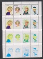 Kosovo 1999 Lady Di  Strip 4v Printing Process 4 Strips ** Mnh (F7004) - Kosovo