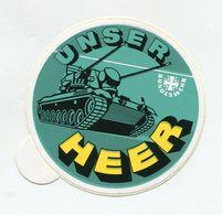 AUTOCOLLANT STICKER AUFKLEBER BUNDESWEHR UNSER HEER - Stickers