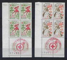 """FR Coins Datés FDC YT 1860 & 1861 """" Croix-Rouge """" Neuf** Le Creusot Le 17.11.75 - Coins Datés"""