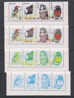 Kosovo 1999 Birds Strip 4v Printing Process 4 Strips ** Mnh (F7005) - Kosovo