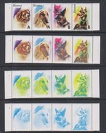 Kosovo 1999 Dogs Strip 4v Printing Process 4 Strips ** Mnh (F7006) - Kosovo
