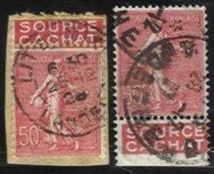 FRANCE, Pub. Labels, Yv 199, Used, F/VF - 1903-60 Semeuse Lignée