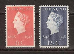 Nederlandse Antillen Curacao 196-197 MNH PF Koningin Queen Reine Reina Wilhelmina.1948 LOOK NOW FOR VERY FINE COLLECTION - Curacao, Netherlands Antilles, Aruba