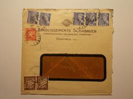 Marcophilie  Cachet Lettre Obliteration - CASTRES - Taxe - 1942 - (1937) - 1921-1960: Moderne