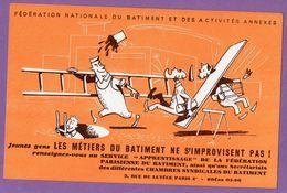 Buvard Federation Nationale Du Batiment Paris - Echelle - Blotters