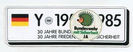 AUTOCOLLANT STICKER AUFKLEBER 30 JAHRE BUNDESWEHR - Stickers