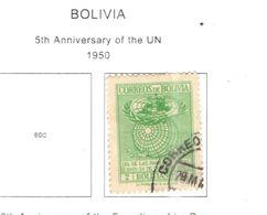 Bolivia PO 1950 5 Ann.ONU   Scott.341++See Scans On Scott.Page - Bolivia