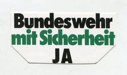 AUTOCOLLANT STICKER AUFKLEBER BUNDESWEHR MIT SICHERHEIT - Stickers