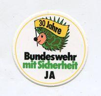 AUTOCOLLANT STICKER AUFKLEBER 30 JAHRE BUNDESWEHR MIT SICHERHEIT - Stickers