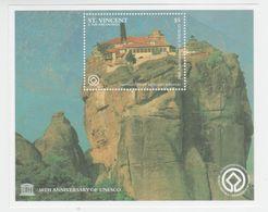 St.Vincent & Grenadines, 1997, Patrimoine De L'UNESCO, Monastères Des Météores, Grèce, Bloc Feuillet, Neuf - St.Vincent E Grenadine