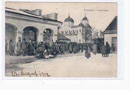 Pruzana Marktplatz 1917 OLD POSTCARD 2 Scans - Belarus