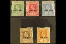 "1902-3 KEVII Wmk Crown CA Set, Overprinted ""SPECIMEN,"" SG 3s/7s, Mint (5). For More Images, Please Visit Http://www.sand - Cayman Islands"