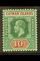 1912-20 10s Deep Green & Red On Green, Watermark MCA, SG 52, Very Fine Mint. For More Images, Please Visit Http://www.sa - Cayman Islands