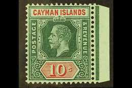 1912-20 10s Deep Green And Red / White Back, SG 52b, Never Hinged Mint. For More Images, Please Visit Http://www.sandafa - Cayman Islands