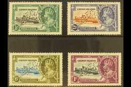 """1935 Silver Jubilee Set, """"SPECIMEN"""" Perfins, SG 108s/11s, Fine Mint (4). For More Images, Please Visit Http://www.sandaf - Cayman Islands"""