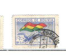 Bolivia PO 1951 Cent.adozione Bandiera Naz.   Scott.360++See Scans On Scott.Page - Bolivia