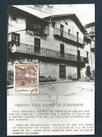 ANDORRE ESPAGNOL CARTE MAXIMUM 1990 MAISON PLANDOLIT - Spanisch Andorra
