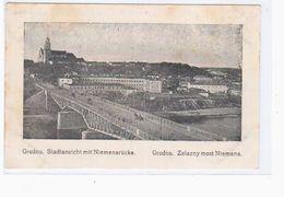 Grodno 1915 OLD POSTCARD 2 Scans Stempel Preuss.Landw- Feld- Laz Nr 17 - Weißrussland