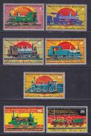 GUINEE EQUATORIALE N°   30, AERIENS N° 15 ** MNH Neufs Sans Charnière, 7 Valeurs, TB (6587) Trains, Locomotives - Guinée Equatoriale