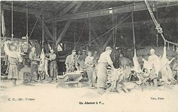 -guerre 1914-18 -ref L947- Un Abattoir A Fismes - Departement De La Marne - Theme Abattoirs  - - Guerre 1914-18
