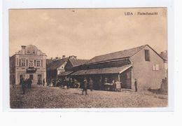 Lida Alte Galizien Fleischmarkt 1915 OLD POSTCARD 2 Scans Feldpost - Belarus