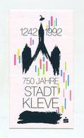 AUTOCOLLANT STICKER AUFKLEBER 750 JAHRE STADT KLEVE - Stickers