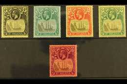 """1922-37 """"Badge Of St. Helena"""" Watermark Multi Crown CA Complete Set, SG 92/96, Very Fine Mint. (5 Stamps) For More Image - Saint Helena Island"""