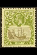 1922-37 10s Grey & Olive-green, Wmk Script CA, SG 112, Superb Mint. For More Images, Please Visit Http://www.sandafayre. - Saint Helena Island