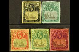 1922-37 Multi CA Watermark Set, SG 92/96, Fine Mint (5 Stamps) For More Images, Please Visit Http://www.sandafayre.com/i - Saint Helena Island