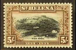 "1934 5s Black & Chocolate ""Centenary"", SG 122, Fine Mint For More Images, Please Visit Http://www.sandafayre.com/itemdet - Saint Helena Island"