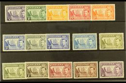 1938-44 Pictorial Definitive Set Plus 8d Listed Shade, SG 131/40, Fine Mint (15 Stamps) For More Images, Please Visit Ht - Saint Helena Island