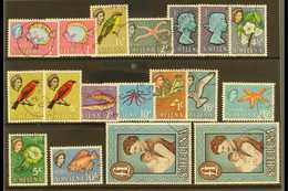 1961-65 Pictorial Definitive Set With Most Addition Chalky Paper Variants, SG 176/89, Fine Used (18 Stamps) For More Ima - Saint Helena Island