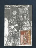 ANDORRE CARTE MAXIMUM 1985 PEINTURE PRE-ROMANE - Maximumkarten (MC)