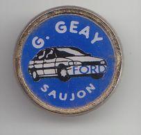 Pin's Garage Ford G Geay à Saujon En Charente Maritime Dpt 17 Voiture Ford Réf  6500b - Cities