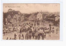 Lida Marktplatz 1916 OLD POSTCARD 2 Scans Feldpost - Belarus