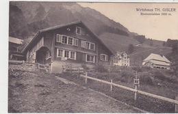 Riemenstalden - Wirtshaus Th. Gisler - Stabstempel - 1916           (P-135-70501) - SZ Schwyz