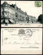 CP   Liège   ---   1905   --  Avenue Rogier  --  Animé  --  Editions Grand Bazar - Liege