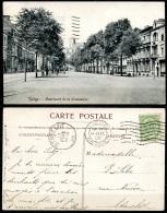 CP   Liège   ---   1908 --   Boulevard De La Sauvenière   --   Animé - Liege