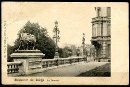 CP   Liège   ---   Les Terrasses  :  Le Taureau  --  Circulé 1890 ? - Liege