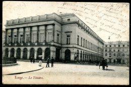 CP   Liège   ---   Le Théâtre  --  Circulé 1905 - Liege