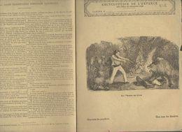 Couverture Illustrée De Cahier D'écolier : Encyclopédie De L'enfance N°7 La Chasse Au Lion (PPP8218) - Animals